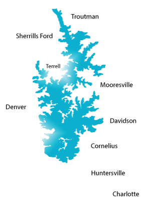 commuities + cities of lake norman